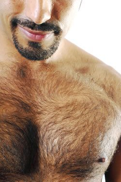 Photo of man with hairy chest