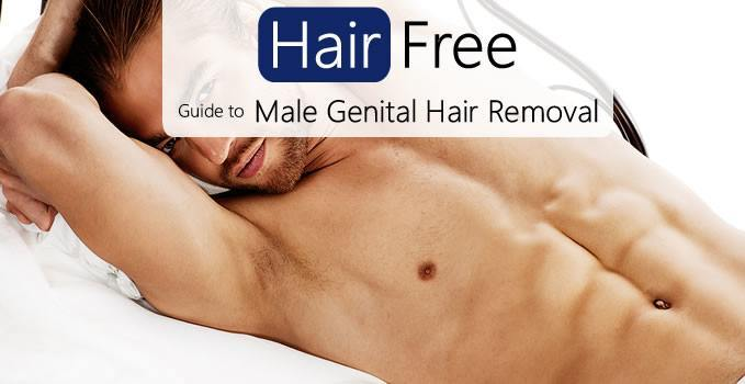 Male genital hair removal