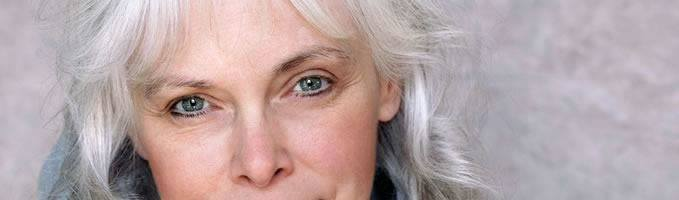 Close up of  lady with silver hair