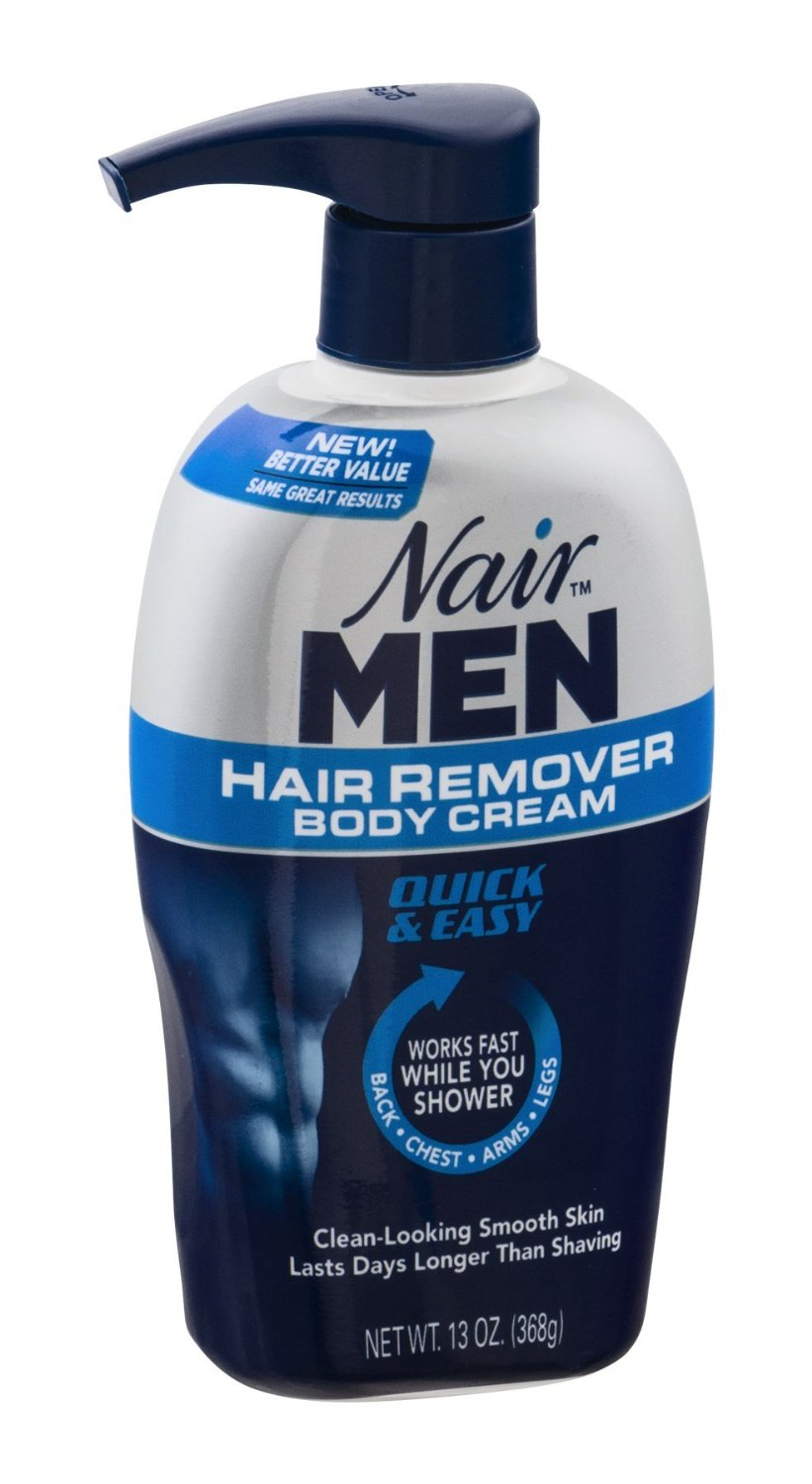 nair men hair remover body cream