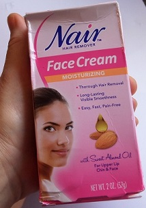 Not facial cream depilatory that