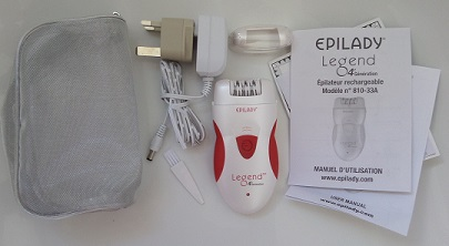 Epilady Legend Epilator contents of box