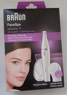 Braun FaceSpa  830 Mini Epilator & Cleansing Brush
