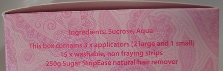 Sugar Strip Ease Ingredients