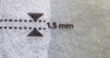 Veet Wax Strip Kit - marking on strip