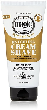 SoftSheen Carson Magic Razorless Cream Shave - Bald Head