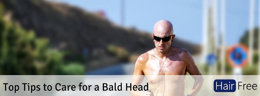 what do bald guys put on their head