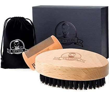 Vetyon Beard Brush and Comb Set