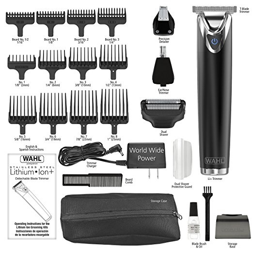 Wahl Slate Stainless Steel Trimmer - what you get