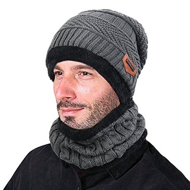 Vbiger Beanie Hat and Scarf Set
