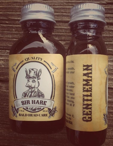 Sir Hare Gentleman shave oil for bald heads
