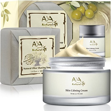 Aya Natural Vegan Shaving Soap & After Shave Cream Set