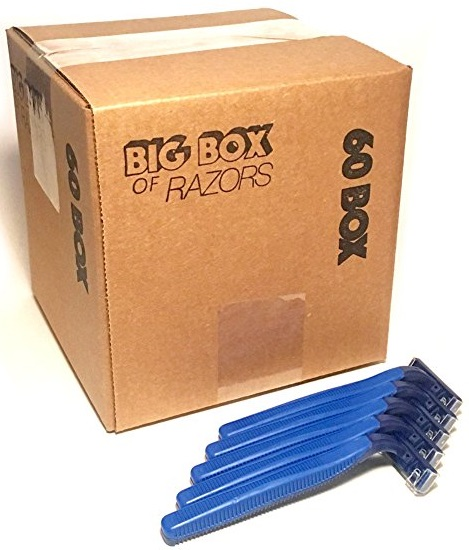 Disposable Twin Blade Razors box of 60 - Big Box of Razors