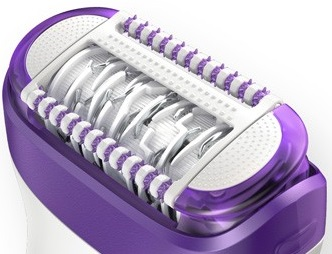 Braun 9 epilator head - close up of tweezer