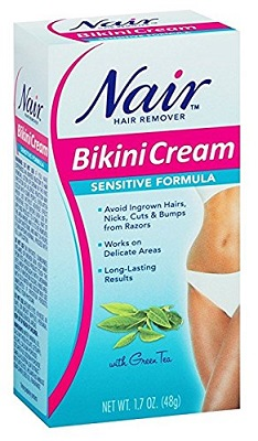 Nair Bikini Cream Sensitive hair removal depilatory cream 1.7oz 2 pack