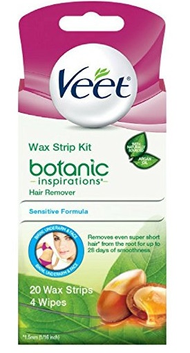 Veet Ready to Use Wax Strip Kit 20's Bikini Underarm Face