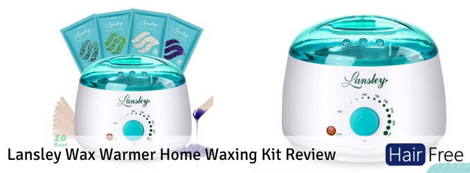 Lansley Wax Warmer Home Waxing Kit Review Hair Free Life