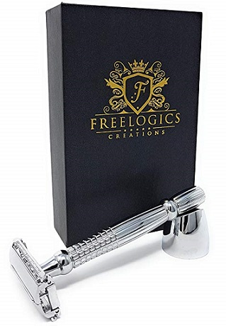 FREELOGICS Double edge safety razor kit with stand