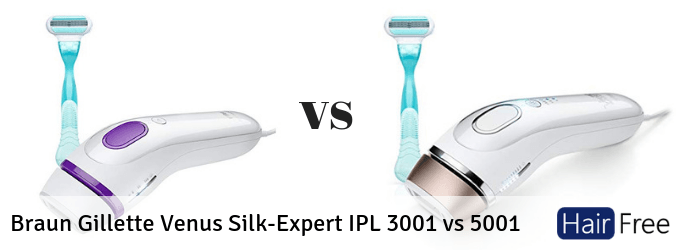Braun Gillette Venus Silk Expert Ipl 3001 Vs 5001 What S The