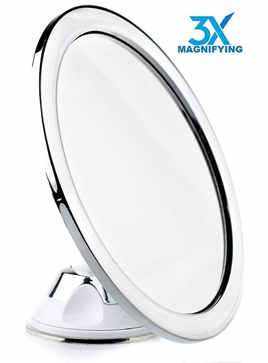 Hampstead Fogless Shower Shaving Mirror 3X
