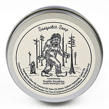 Sasquatch Soap in travel gift tin by Seattle Sundries 4 oz