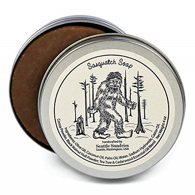 Sasquatch Soap in a travel tin by Seattle Sundries 4oz